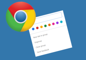 group tabs in Google chrome color codes
